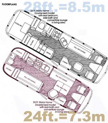 79 Excella Motorhome 24ft Floor Plan